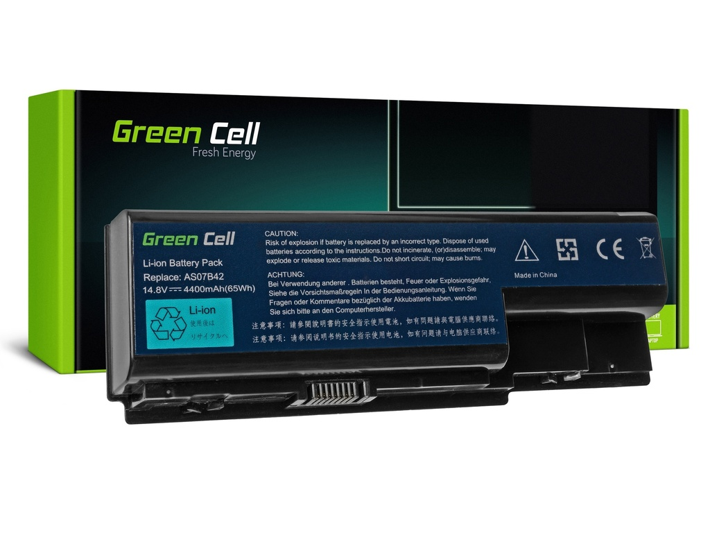 Baterija Green Cell za Acer Aspire 5520 AS07B31 AS07B32 / 14,4V 4400mAh