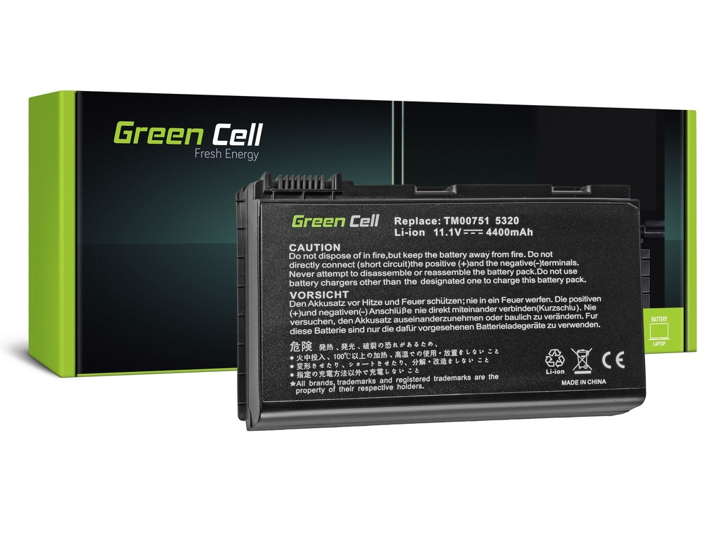 Baterija Green Cell za Acer TravelMate 5220 5520 5720 7520 7720 / 11,1V 4400mAh