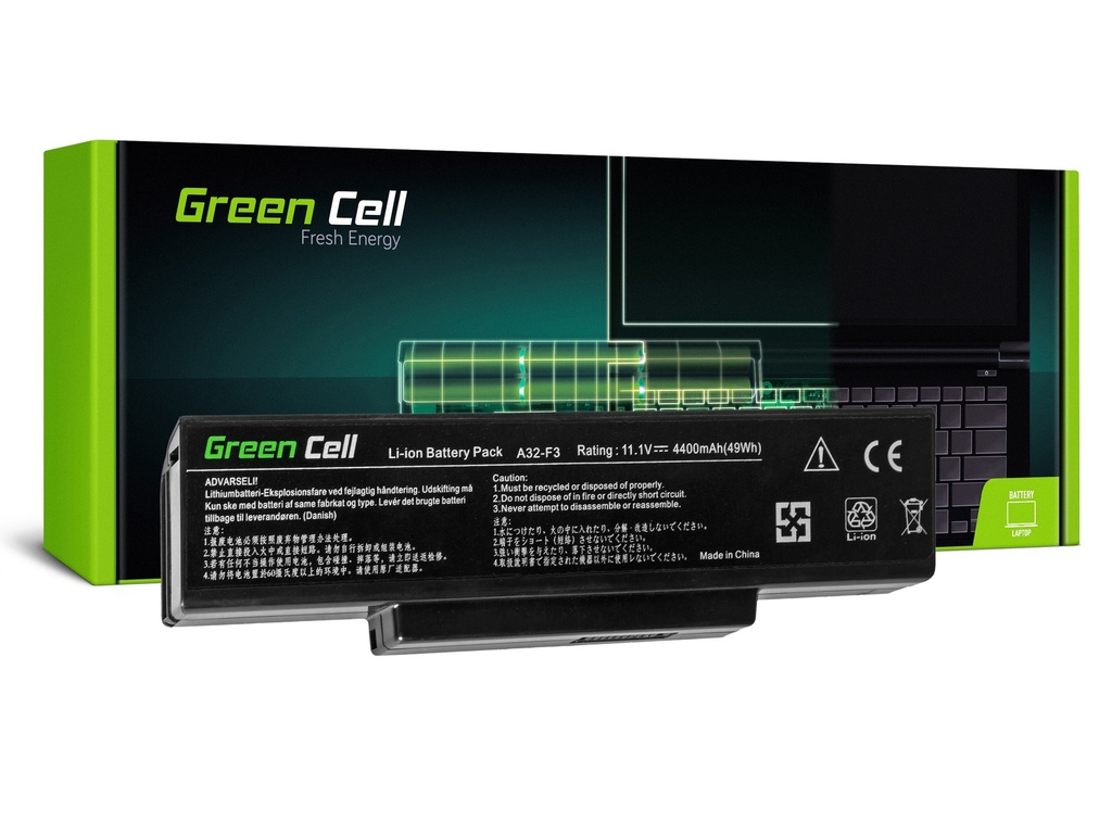Baterija Green Cell za Asus F2 F2J F3 F3S F3E F3F F3K F3SG F7 M51 / 11,1V 4400mAh