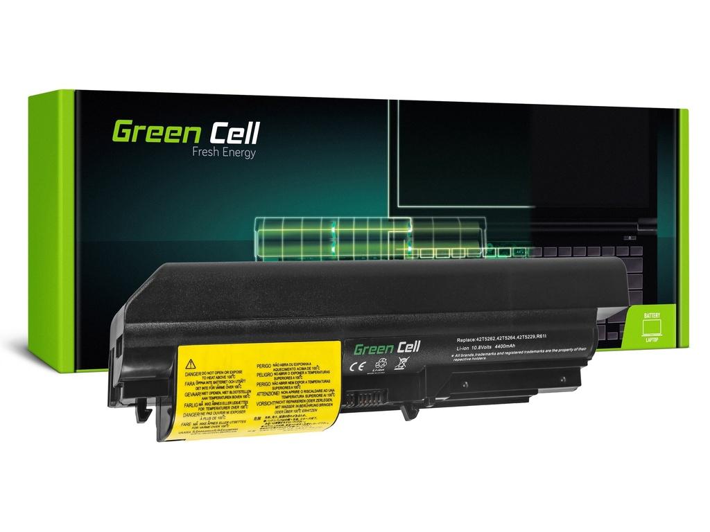 Baterija Green Cell za Lenovo ThinkPad R61 T61p R61i R61e R400 T61 T400 / 11,1V 4400mAh