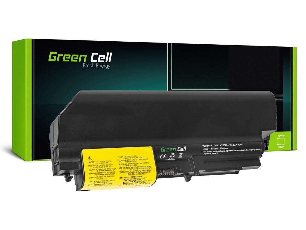Baterija Green Cell za Lenovo ThinkPad R61 T61p R61i R61e R400 T61 T400 / 11,1V 6600mAh