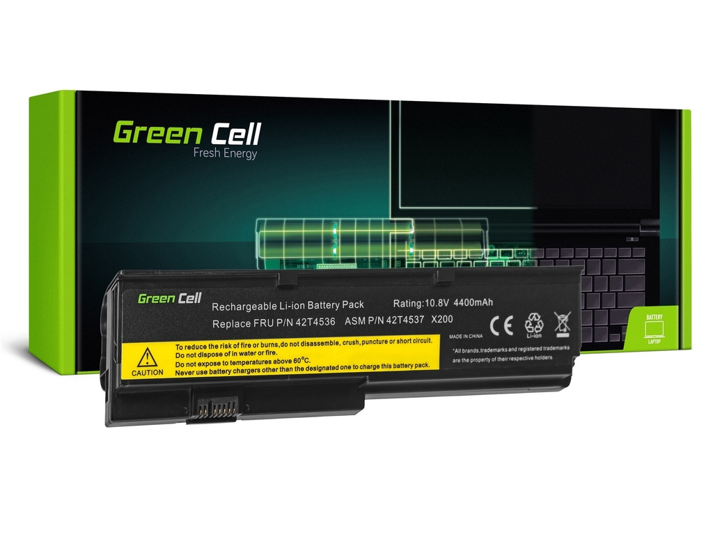 Baterija Green Cell baterija za Lenovo ThinkPad X200 X201 X200s X201i / 11,1V 4400mAh