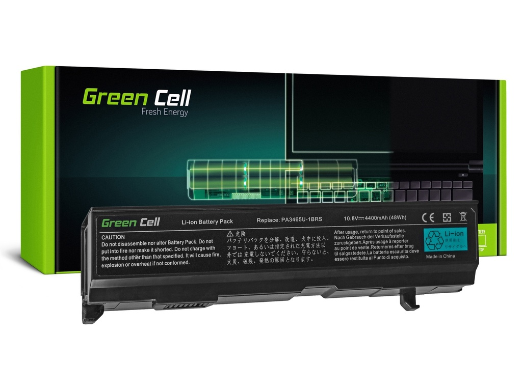 Baterija Green Cell za Toshiba Satellite A85 A110 A135 M40 M50 M70 / 11,1V 4400mAh