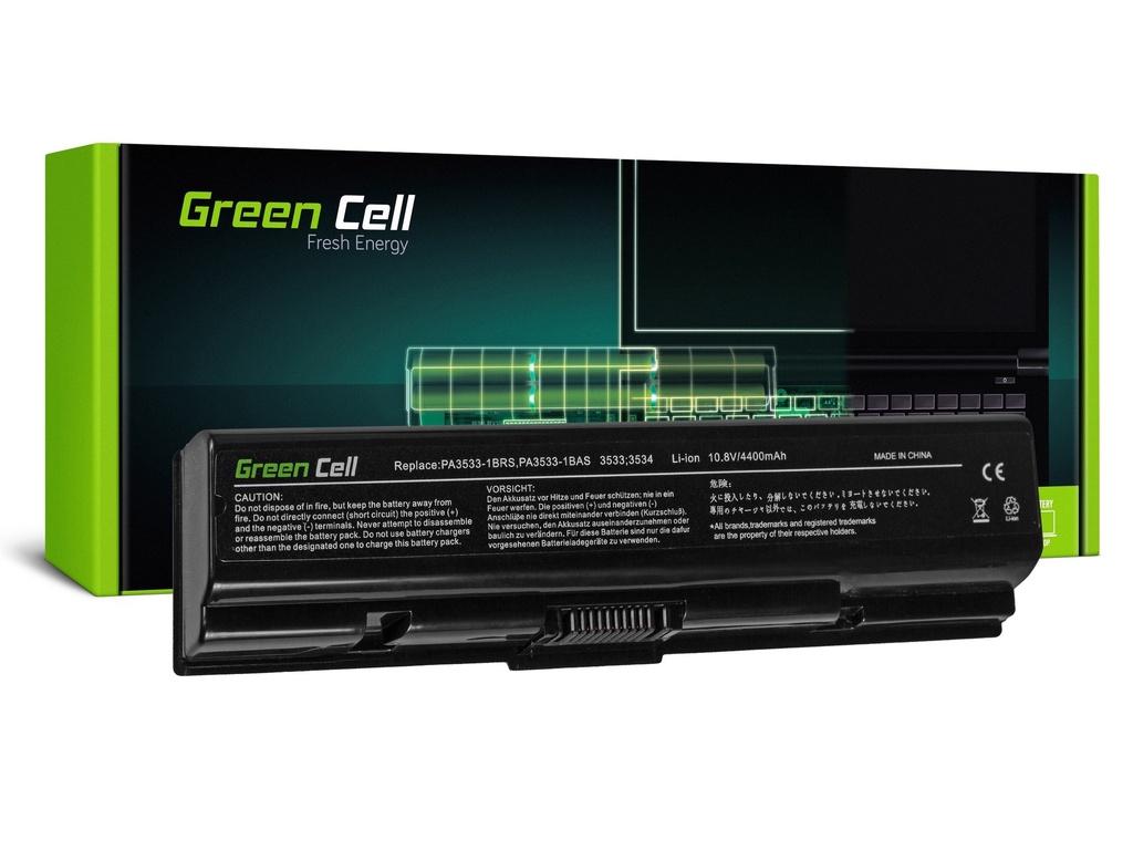 Baterija Green Cell PA3534U-1BAS za Toshiba Satellite A200 A300 A500 L200 L300 L500 / 11,1V 4400mAh