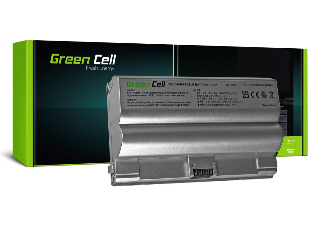 Baterija Green Cell za Soni Vaio PCG-3A1M VGN-FZ21M VGN-FZ21S / 11,1V 4400mAh