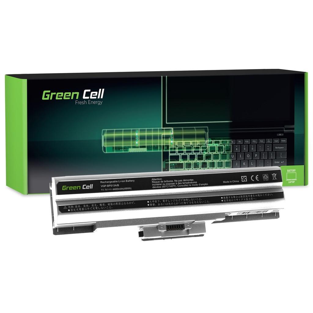 Baterija Green Cell za Sony Vaio VGP-BPS13 VGP-BPS21 (silver) / 11,1V 4400mAh