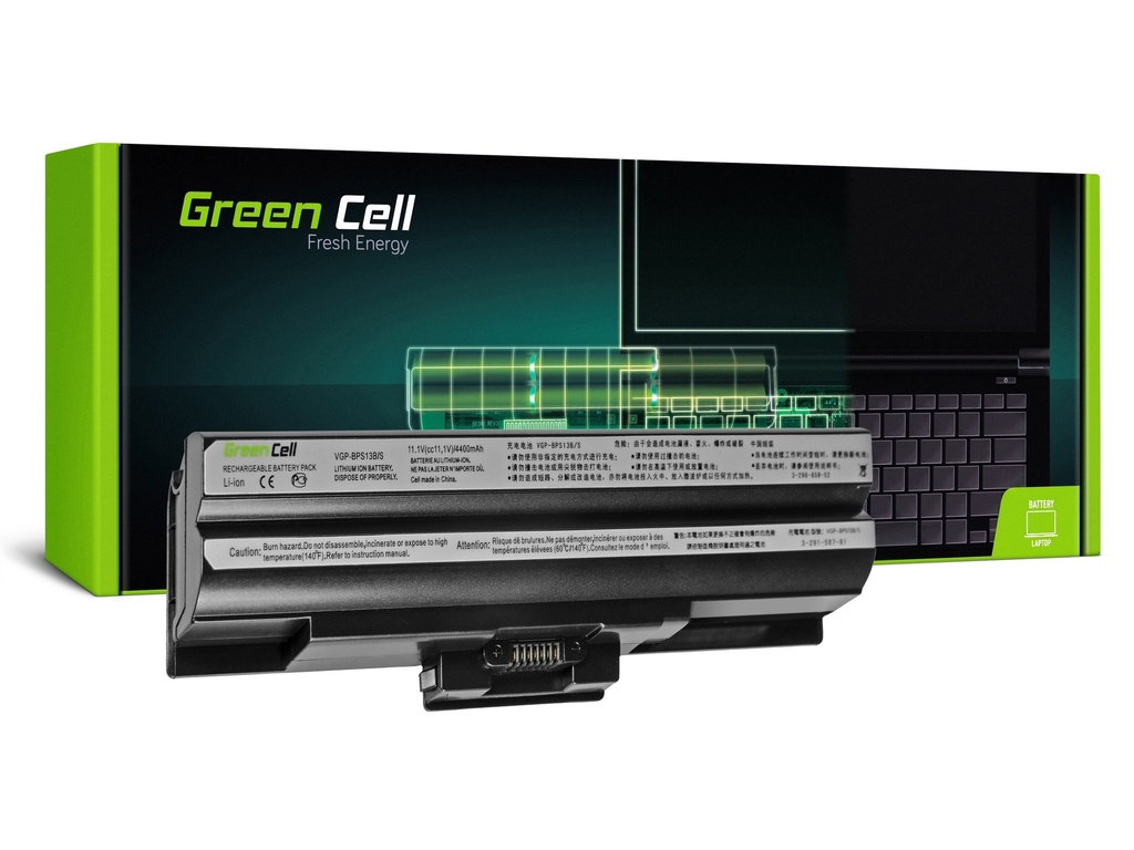 Baterija Green Cell za Sony Vaio VGP-BPS13 VGP-BPS21 (black) / 11,1V 4400mAh