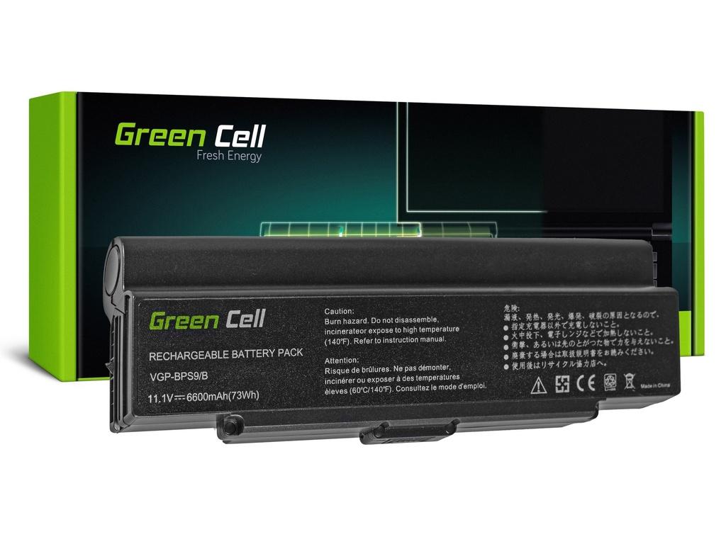 Baterija Green Cell za Sony Vaio VGN-AR570 CTO VGN-AR670 CTO VGN-AR770 (black) / 11,1V 6600mAh