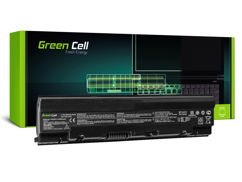 Baterija Green Cell za Asus Eee-PC 1025 1025B 1025C 1225 1225B 1225C / 11,1V 4400mAh