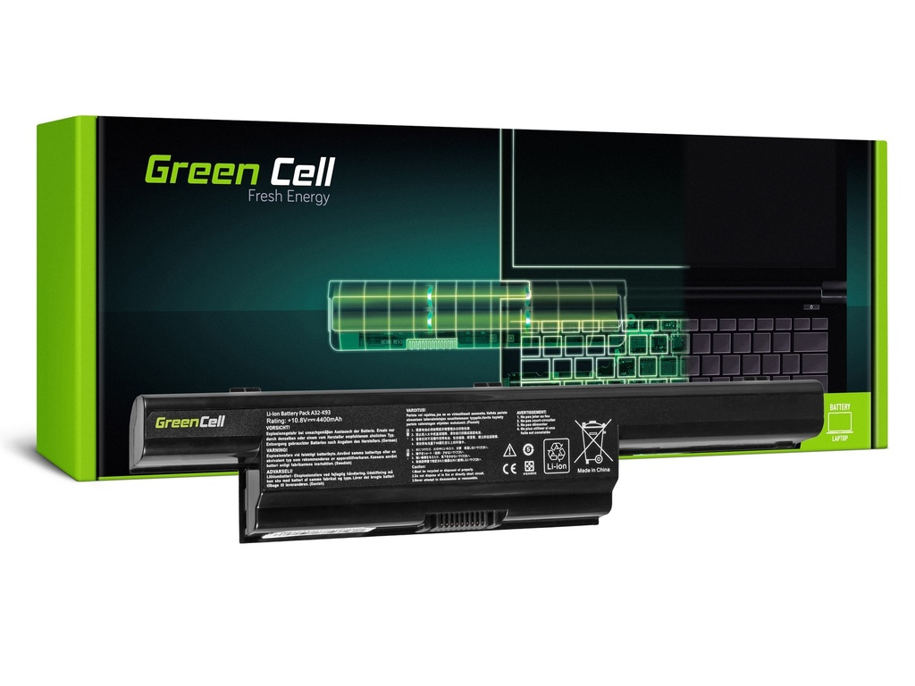 Baterija Green Cell PRO za Asus A93 A95 K93 Ks93 / 11,1V 4400mAh