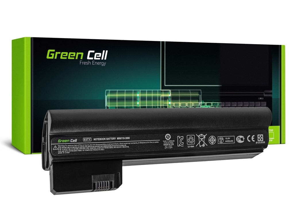 Baterija Green Cell za HP Mini 110-3000 110-3100 / 11,1V 4400mAh