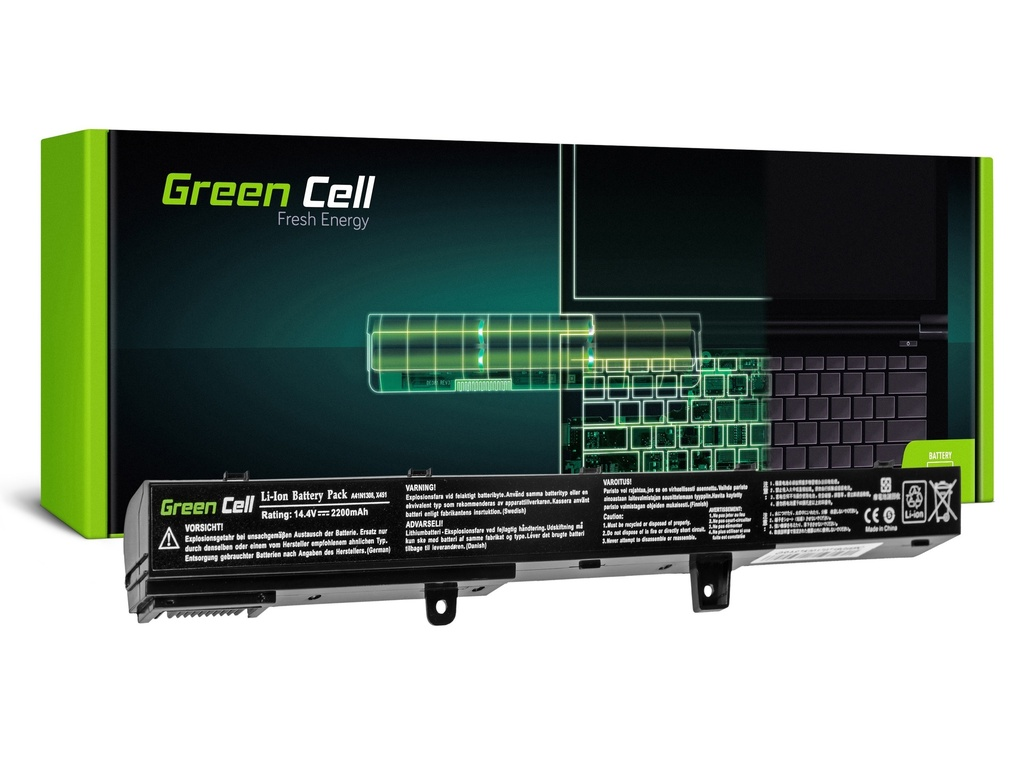 Baterija Green Cell za Asus R508 R556 R509 X551 14,4V 2200mAh