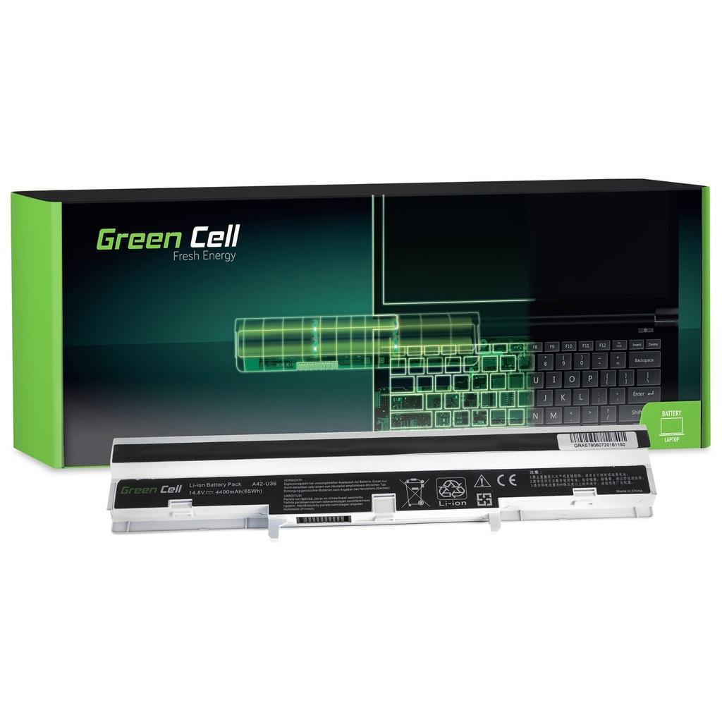 Baterija Green Cell za Asus U32 U32U Ks32 U36 U36J U36S (bela) / 14,4V 4400mAh