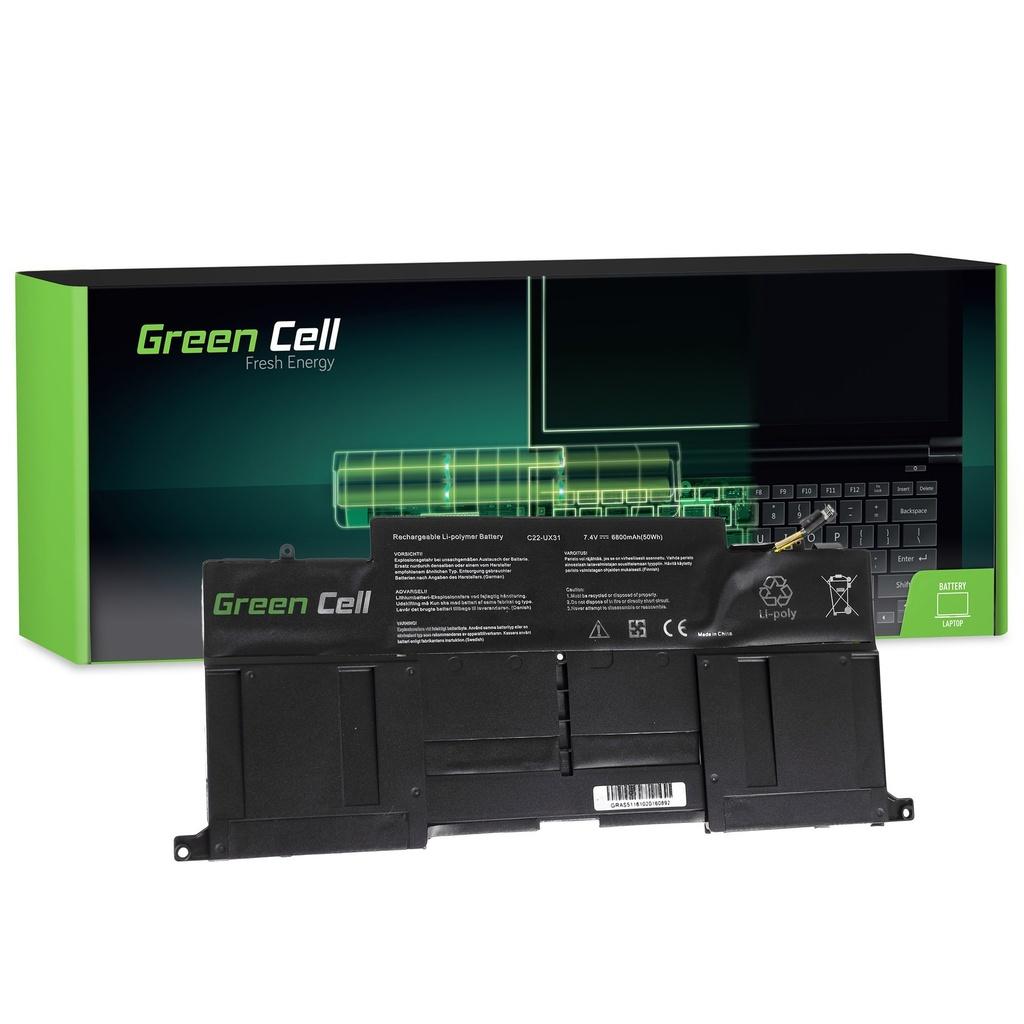 Baterija Green Cell za Asus ZenBook UX31 UX31A UX31E / 7,4V 6200mAh