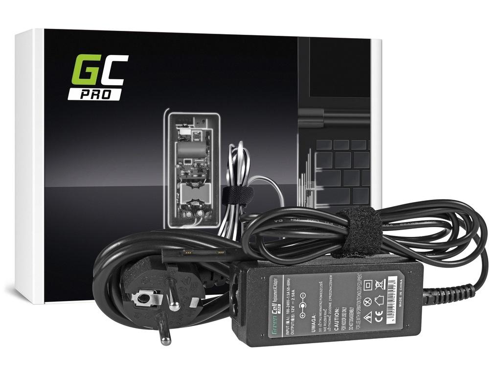 AC adapter za punjač Green Cell PRO za Microsoft Surface Pro 3 i Pro 4 36V / 12V 2,58A / magnetni