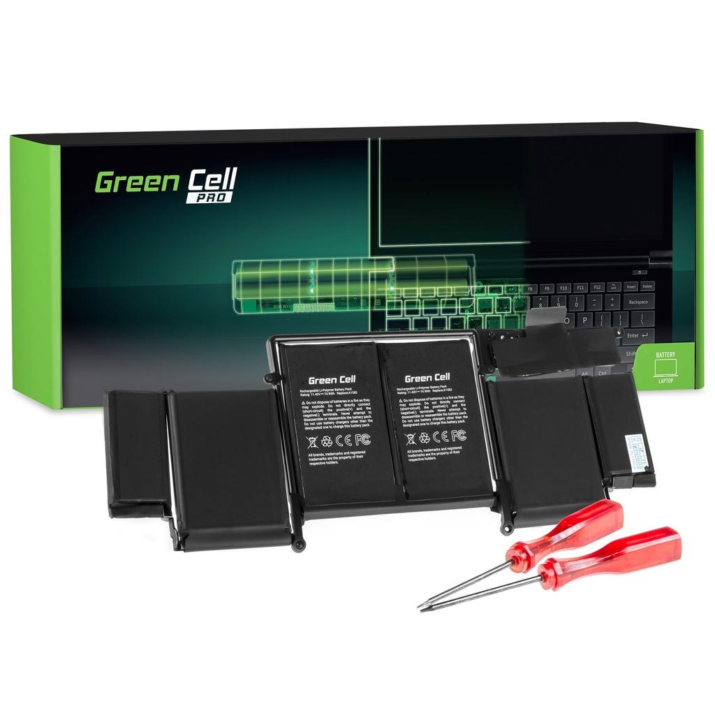 Baterija Green Cell PRO za Apple Macbook Pro 13 A1502 (početak 2015.) / 11,42V 6600mAh