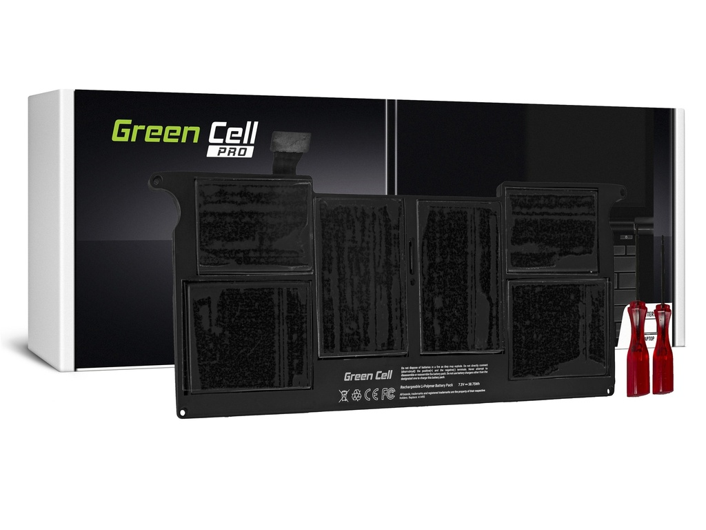 Baterija Green Cell PRO za Apple Macbook Air 11 A1465 (sredina 2013., početak 2014., početak 2015.) / 7,6V 5100mAh