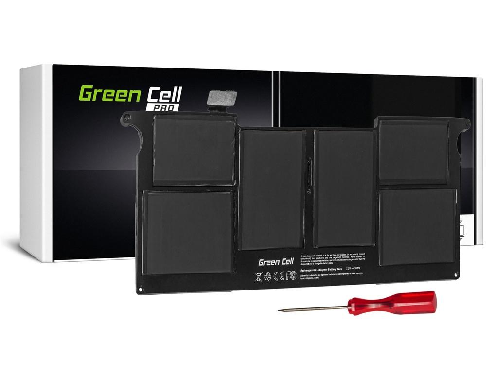 Baterija Green Cell PRO za Apple Macbook Air 11 A1370 A1465 (sredina 2011 - 2013, početak 2014 - 2015) / 7,3V 4800mAh