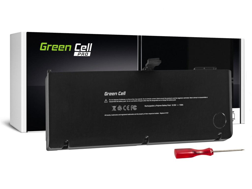 Baterija Green Cell PRO Baterija za Apple Macbook Pro 15 A1286 2009-2010 / 10,95V 6700mAh