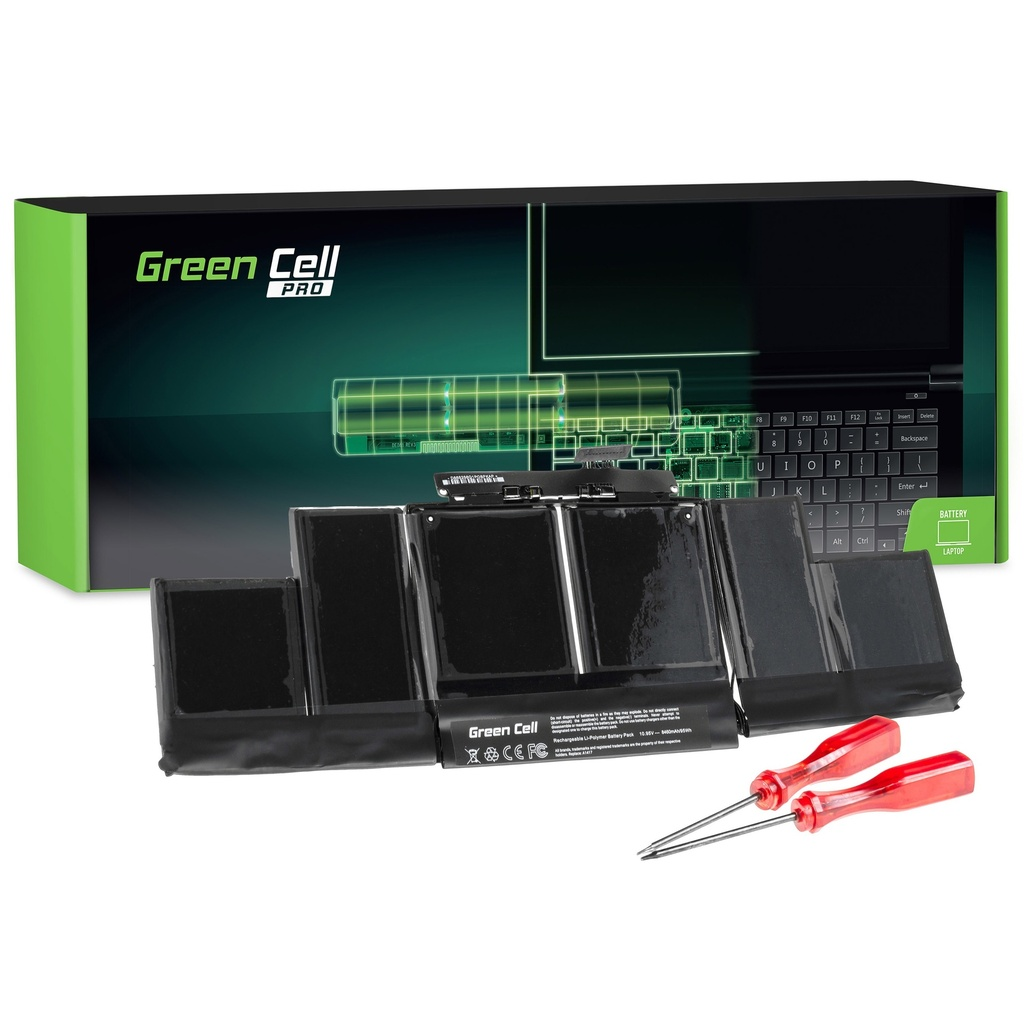 Baterija Green Cell PRO za Apple Macbook Pro 15 A1398 (sredina 2012., početak 2013.) / 10,95V 8700mAh