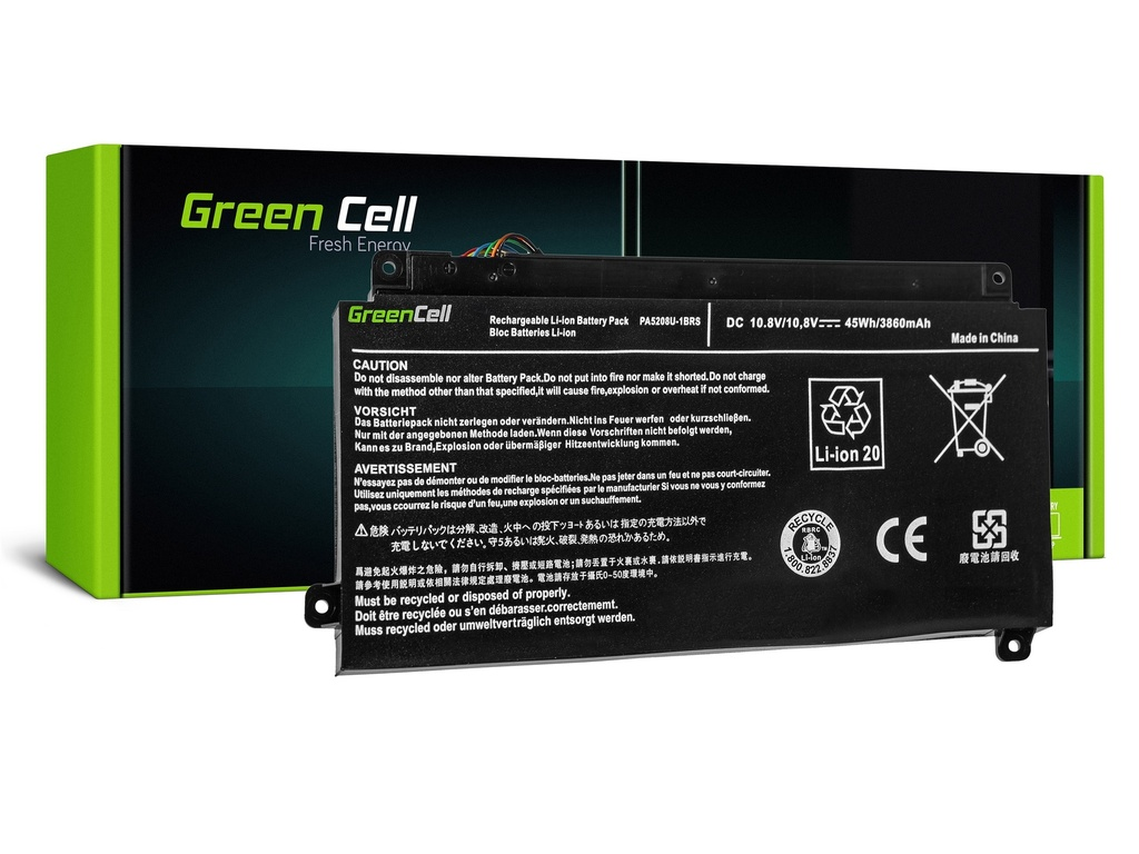 Baterija Green Cell za Toshiba Satellite Radius 15 P50V P55V, Toshiba ChromeBook 2 CB30-B / 11,1V 3400mAh