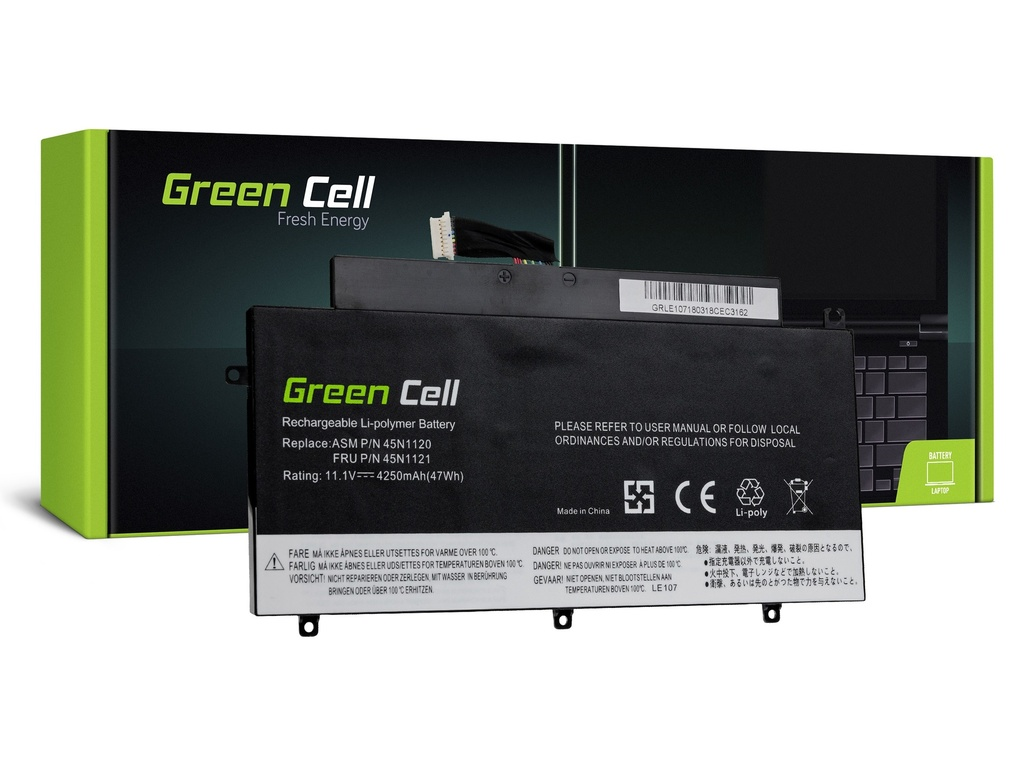 Baterija Green Cell za Lenovo ThinkPad T431s / 11,1V 4250mAh