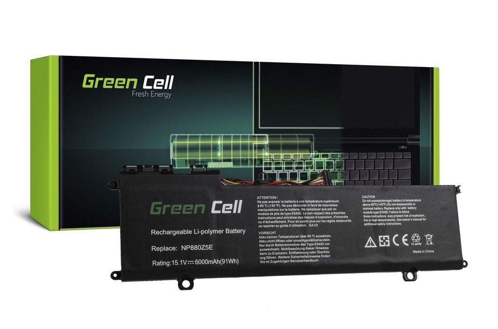 Baterija Green Cell za Samsung NP770Z5E NP780Z5E ATIV Book 8 NP870Z5E NP870Z5G NP880Z5E / 15,1V 6000mAh