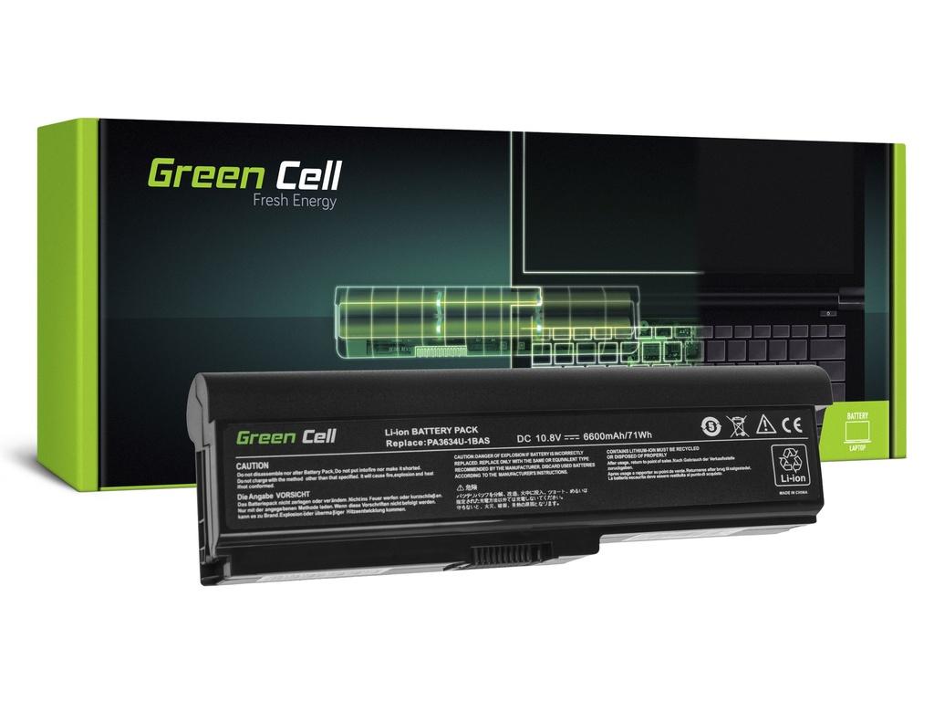 Baterija Green Cell za Toshiba Satellite C650 C650D C660 C660D L650D L655 L750 PA3634U-1BRS / 11,1V 6600mAh