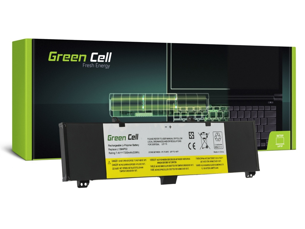 Baterija Green Cell za Lenovo I50 I50-70 I70 I70-70 / 7,4V 7200mAh