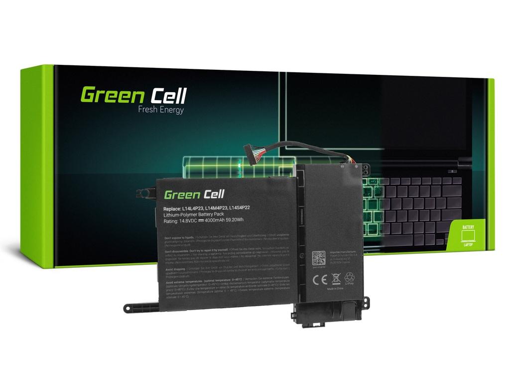 Baterija Green Cell za Lenovo IdeaPad Y700-15ACZ Y700-15ISK Y700-17ISK / 14,4V 4000mAh