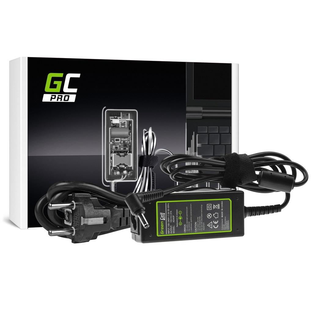 AC adapter Green Cell PRO 19V 2.37A 45V za Asus R540 Ks200C Ks200M Ks201E Ks202E Vivobook F201E S200E ZenBook UKS31A UKS32V