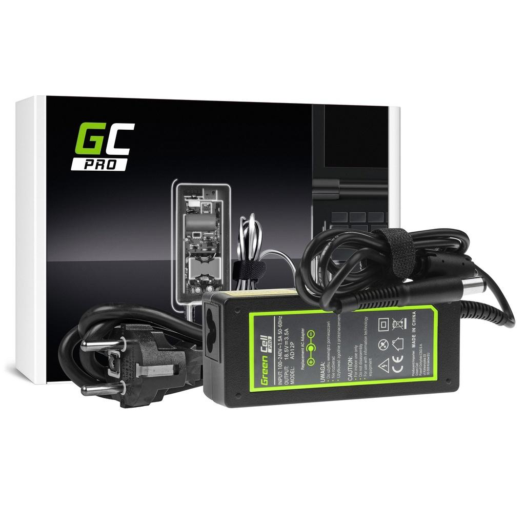 AC adapter Green Cell PRO 18.5V 3.5A 65V za HP 250 G1 255 G1 ProBook 450 G2 455 G2 Compak Presario CK56 CK57 CK58 CK60