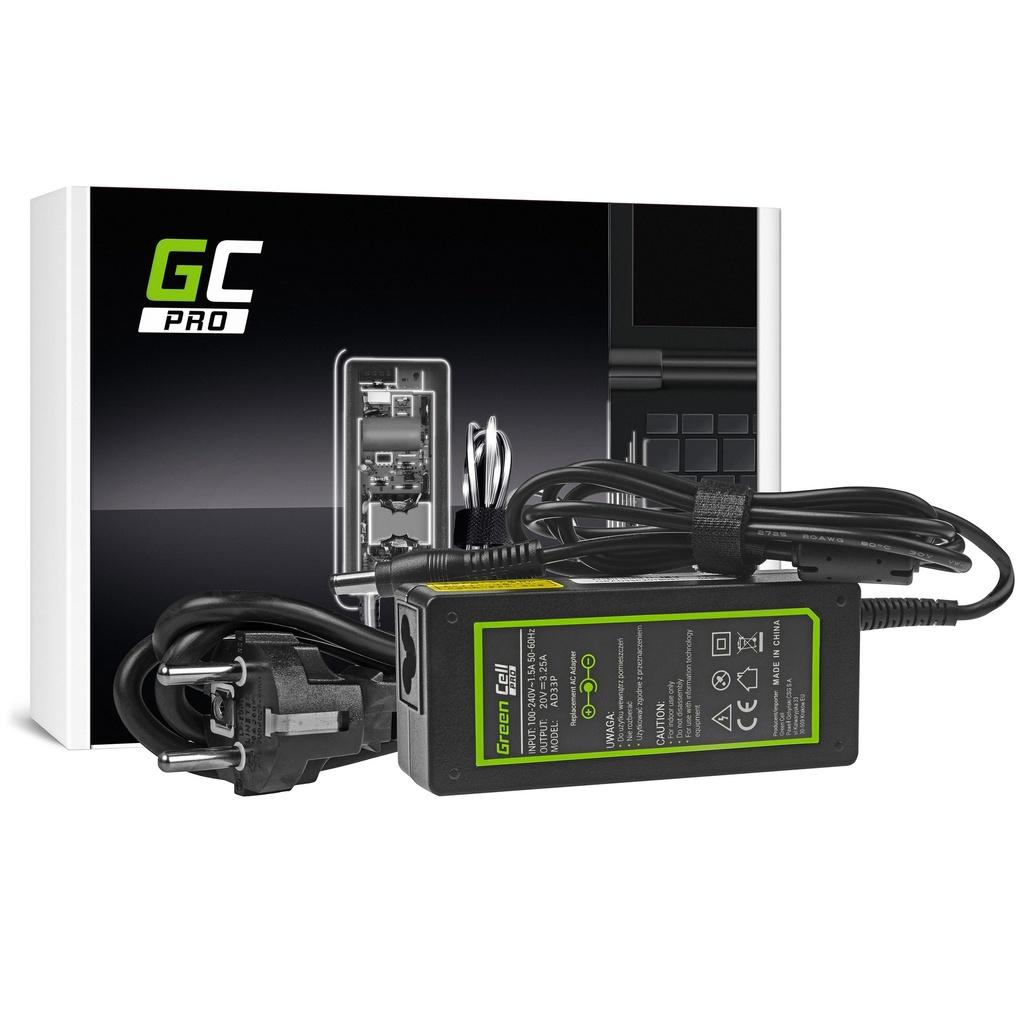 AC adapter Green Cell PRO 20V 3.25A 65V za Lenovo B560 B570 G530 G550 G560 G575 G580 G580a G585 IdeaPad Z560 Z570 P580