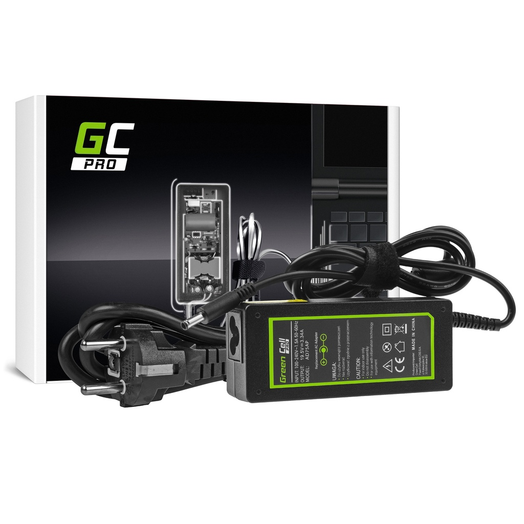 AC adapter Green Cell PRO 19.5V 3.34A 65V za Dell Inspiron 15 3543 3558 3559 5552 5558 5559 5568 17 5758 5759