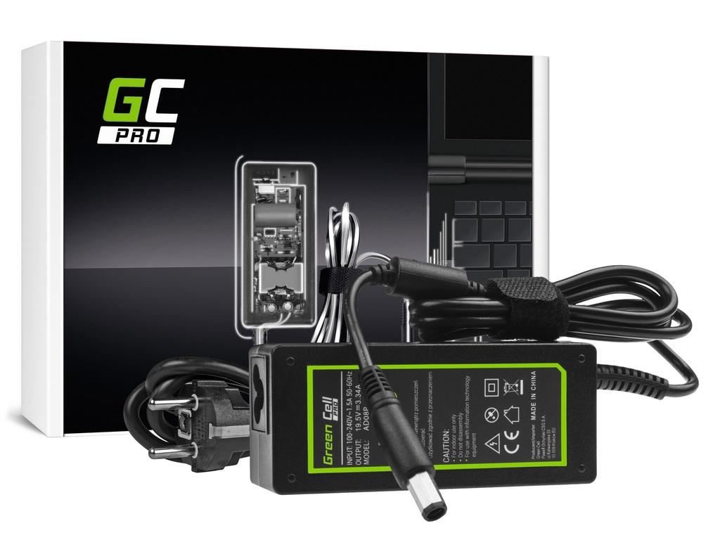 AC adapter za punjač Green Cell PRO za Dell Inspiron 1546 1545 1557 KSPS M1330 M1530 19.5V 3.34A 65V osmerokutni
