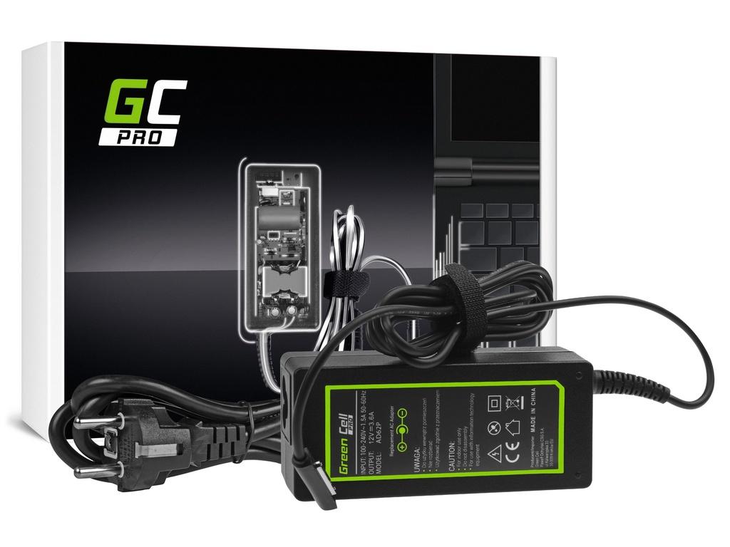 AC adapter za punjač Green Cell PRO za Microsoft Surface RT, RT / 2, Pro i Pro 2 12V 3.6A 48V
