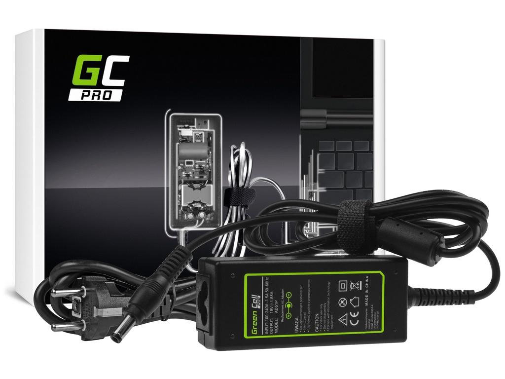 AC adapter za punjač Green Cell PRO za HP Toshiba Mini NB200 NB250 NB255 NB300 NB305 NB500 19V 1,58A 30V
