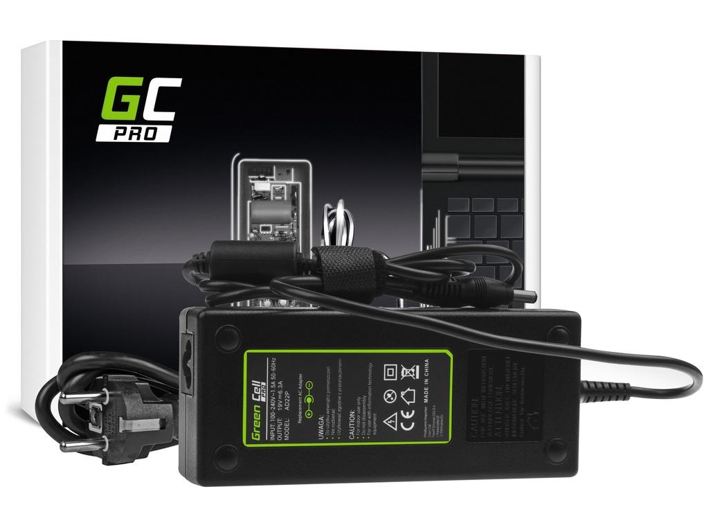 AC adapter za punjač Green Cell PRO za Asus G56 G60 K73 K73S K73SD K73SV F750 Ks750 MSI GE70 GT780 19V 6.3A 120V