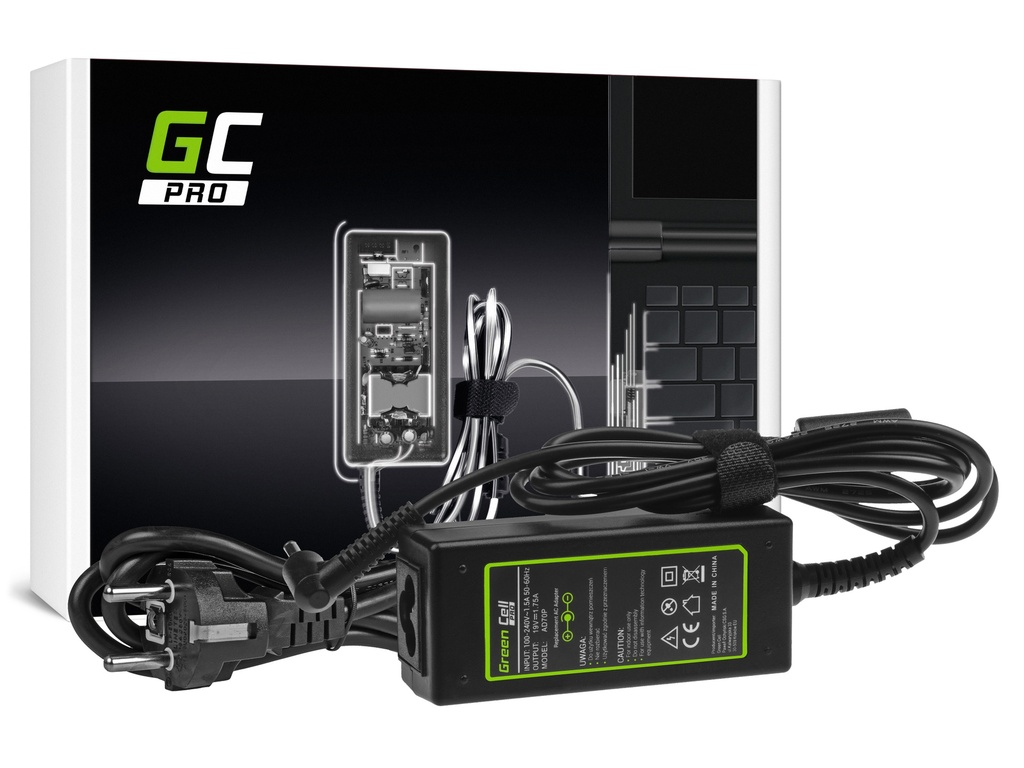 AC adapter za punjač Green Cell PRO za Asus Ks201E Vivobook F200CA F200MA F201E K200E S200E Ks200CA Ks200M Ks200MA 19V 1,75A 33V