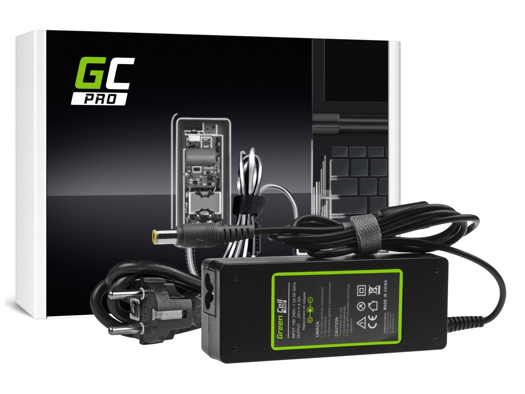 AC adapter za punjač Green Cell PRO za Lenovo ThinkPad T410 T420 T510 T520 T530 T60 T61 R60 R61 V510 V520 Ks201 20V 4,5A 90V