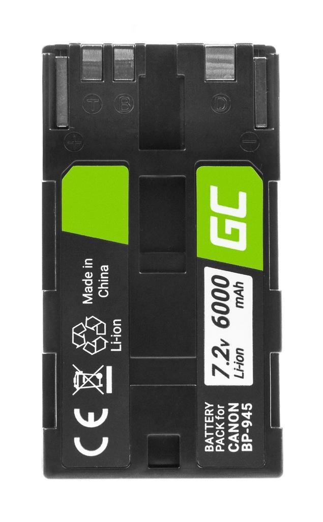 Baterija Green Cell ® BP-80 BP-941 BP-945 za fotoaparate Canon DM-KSL1, ES5000, KSL1 7.2V 6000mAh