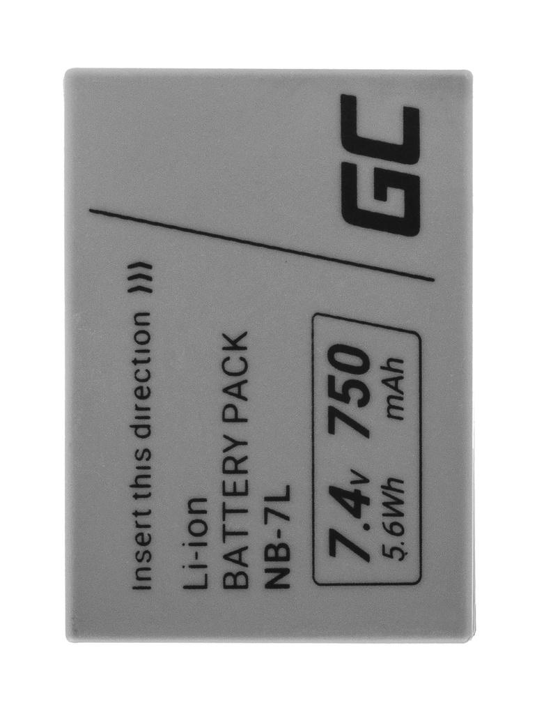 Baterija Green Cell ® NB-7L NB7L za fotoaparate Canon PoverShot G10, G11, G12, SKS30 IS 7.4V 750mAh