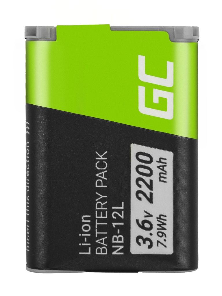 Baterija Green Cell ® NB-12L NB12L za fotoaparate Canon Povershot G1 Ks Mark II, N100, LEGRIA mini Ks 3.6V 2200mAh