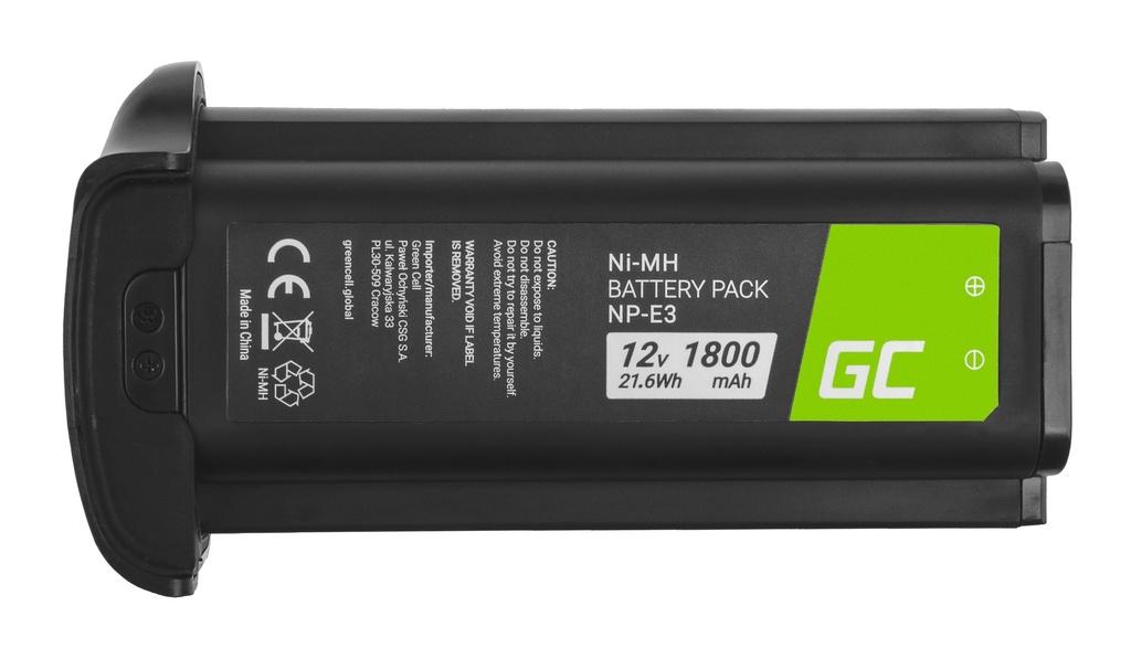Baterija Green Cell ® NP-E3 NPE3 za fotoaparate Canon EOS-1D Mark II, Canon EOS-1Ds Mark II 12V 1800mAh