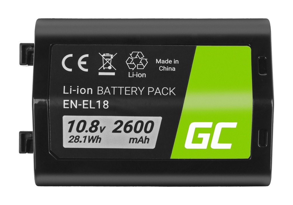 Baterija Green Cell ® EN-EL18 ENEL18 za fotoaparate Nikon D4, D4S, D5 10,8V 2600mAh