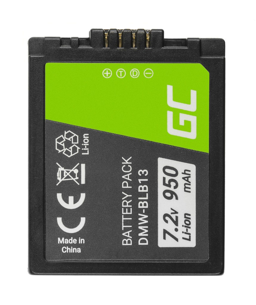 Baterija Green Cell ® DMV-BLB13 DMVBLB13 za fotoaparate Panasonic Lumik DMC-G1 7,2 V 950mAh