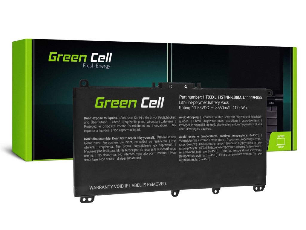 Baterija Green Cell HT03L za HP 240 G7 245 G7 250 G7 255 G7, HP 14 15 17, HP Pavilion 14 15