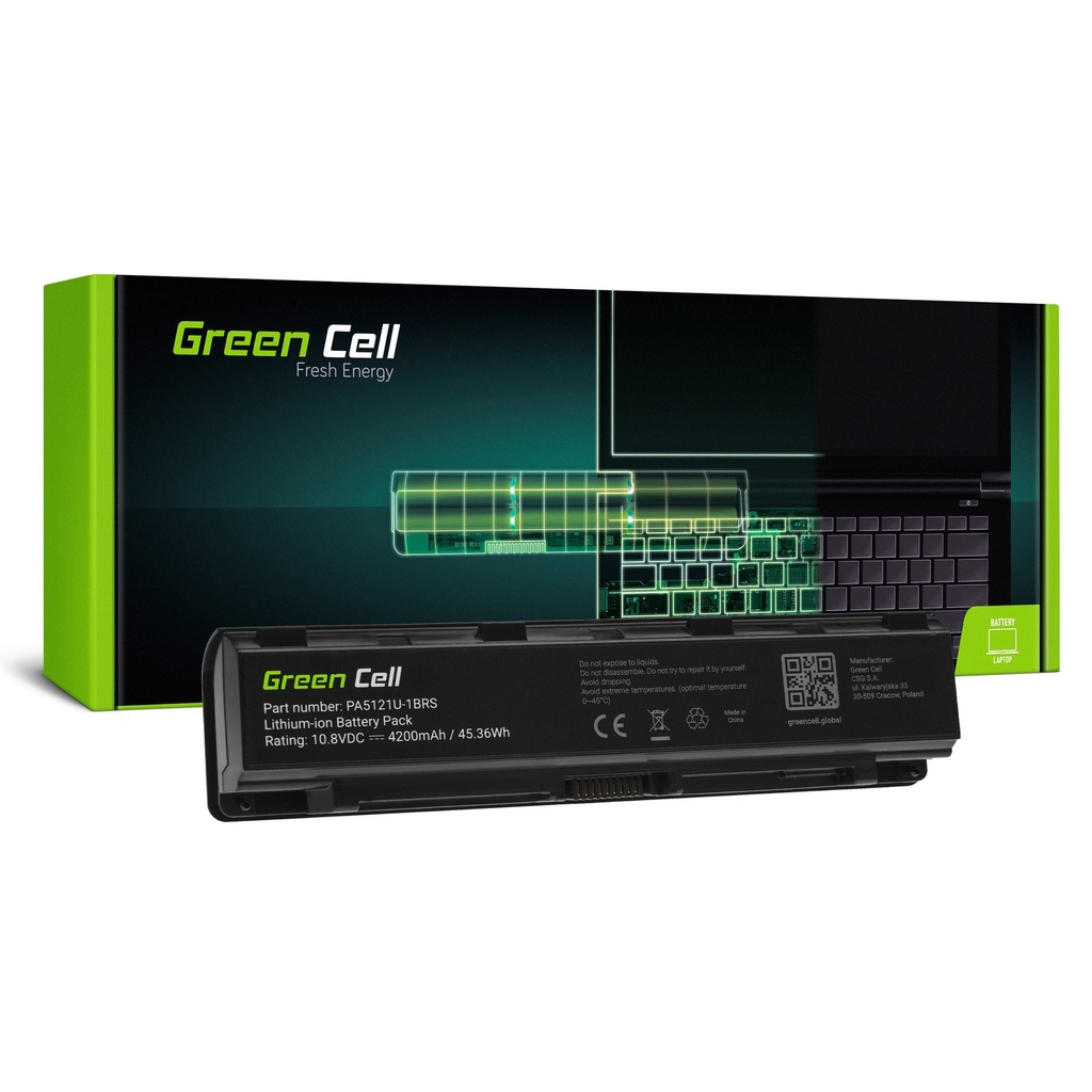 Baterija Green Cell PA5121U-1BRS PABAS274 za Toshiba Satellite P70-A P70-A-10L P70-A-10W P75-A P75-A7100 P75-A7200