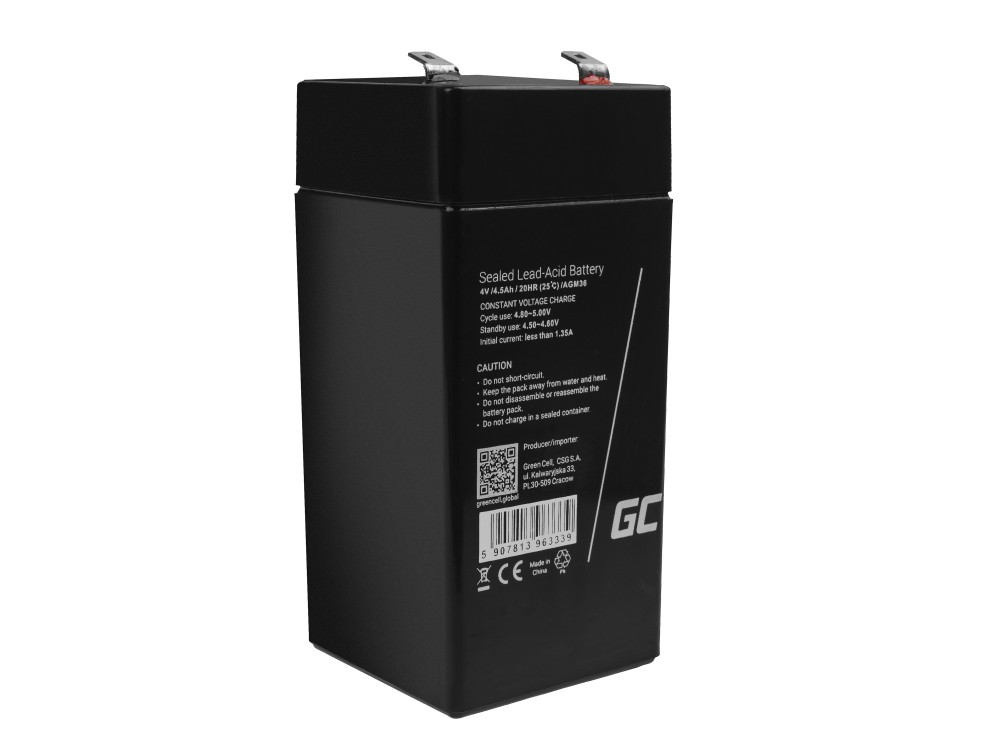 Baterija AGM VRLA Green Cell 6V 3.4Ah