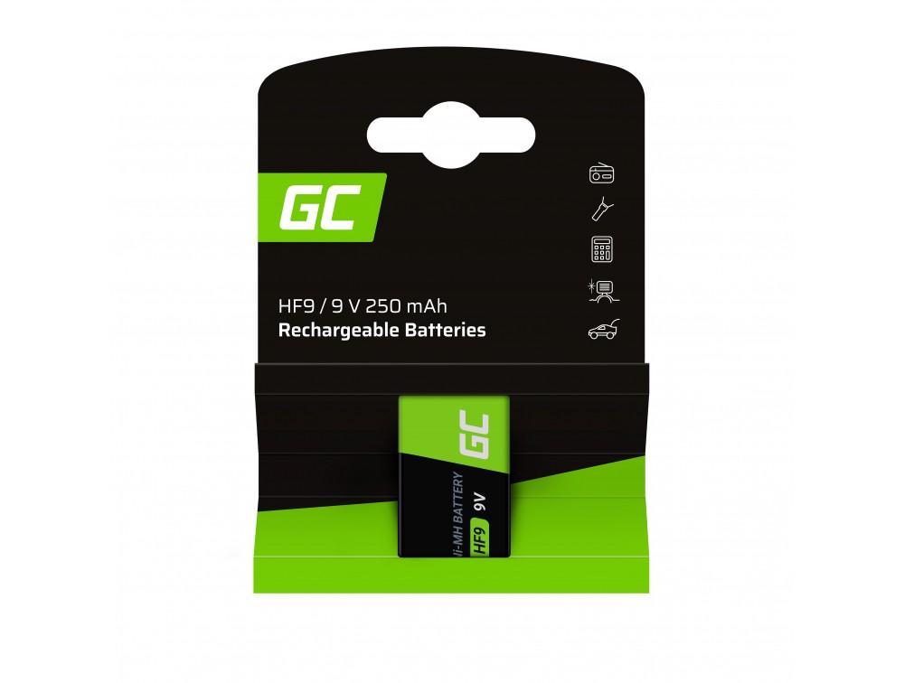 Baterija 1k 9V HF9 Ni-MH 250mAh Green Cell
